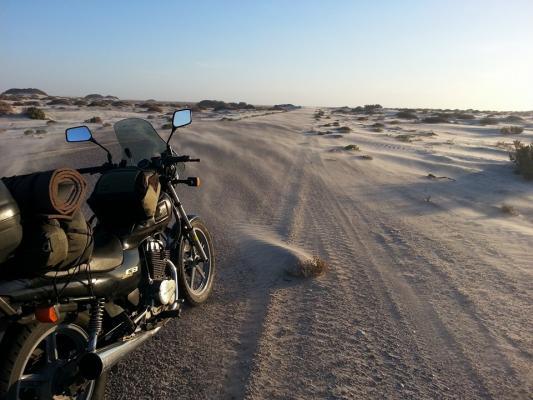 Mauritania en CB250
